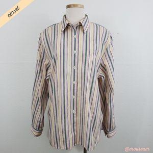 [Foxcroft] Pastel Striped Button Down Shirt